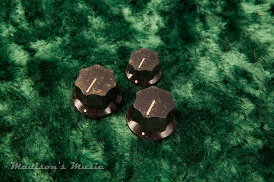 60's Era AGED Jazz Bass Knobs